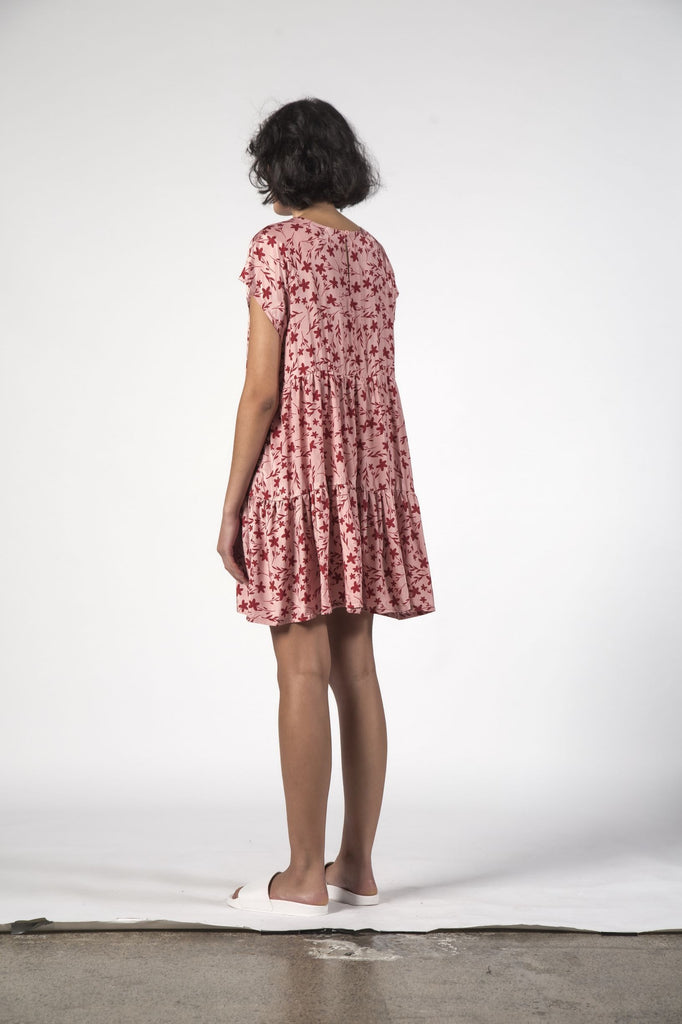 THINGTHING Twirl Dress Floral Pink Back