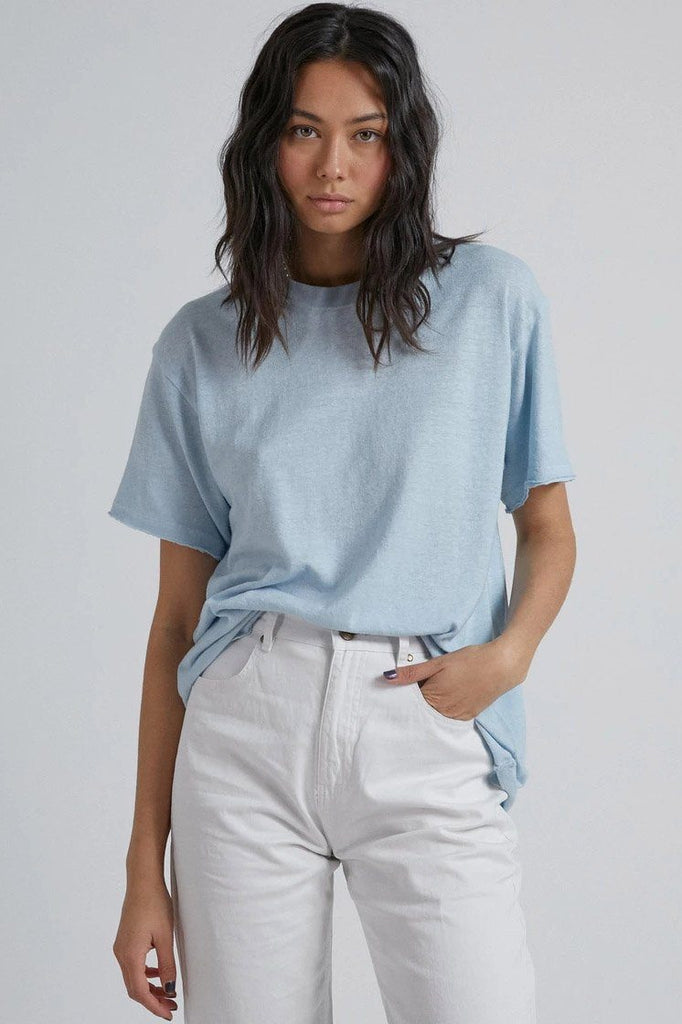AFENDS Slay Hemp Oversized Tee Baby Blue Front