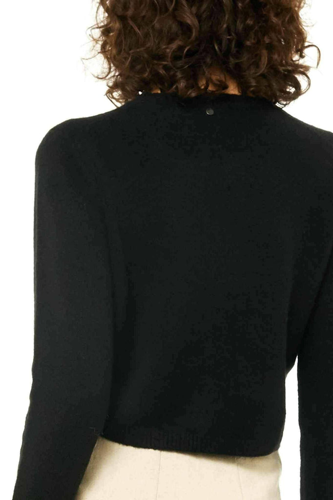 RUSTY Together Crew Neck Knit Black Back Close Up