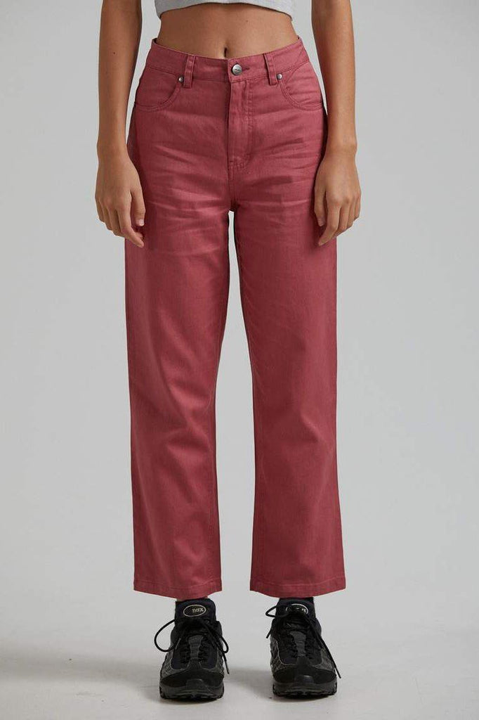 AFENDS Shelby Hemp Wide Leg Pant Watermelon Front