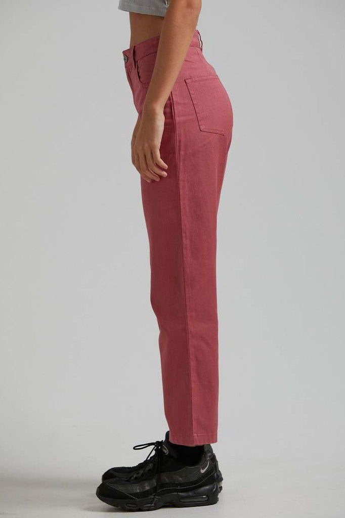 AFENDS Shelby Hemp Wide Leg Pant Watermelon Side