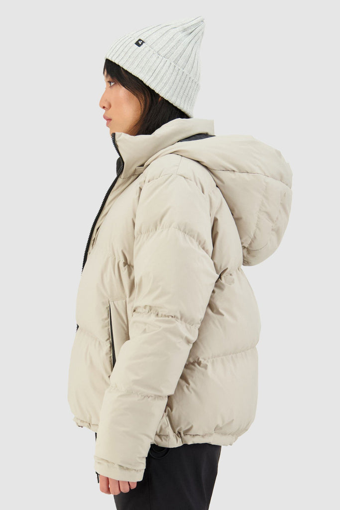 HUFFER Wms Block Down Jacket Sand Side