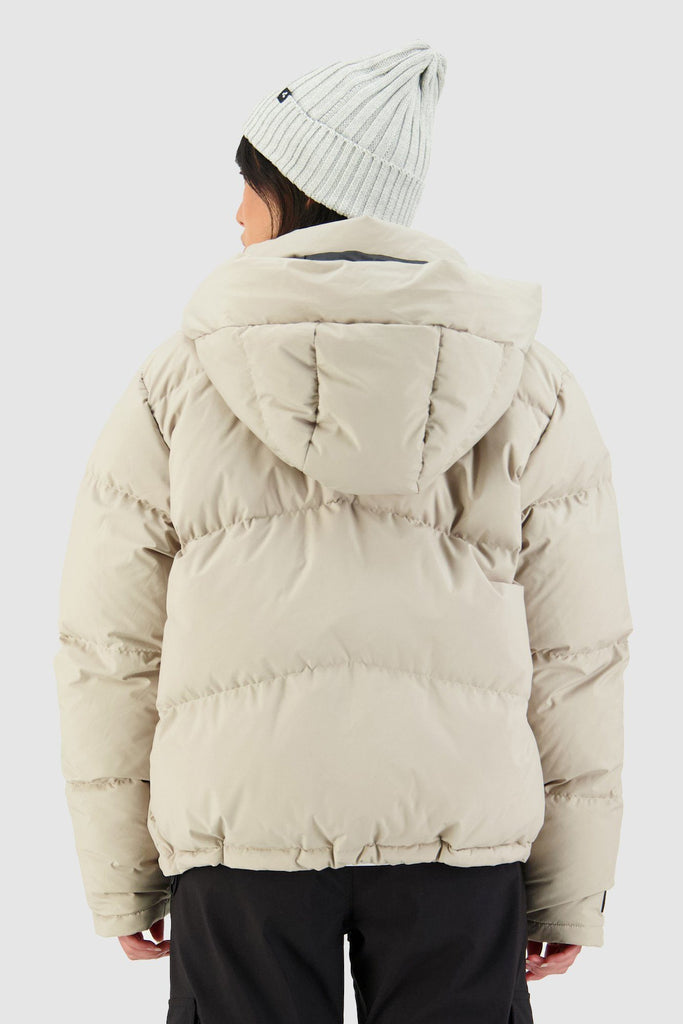 HUFFER Wms Block Down Jacket Sand Back