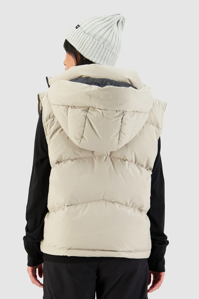 HUFFER Wms Block Down Vest Sand Back