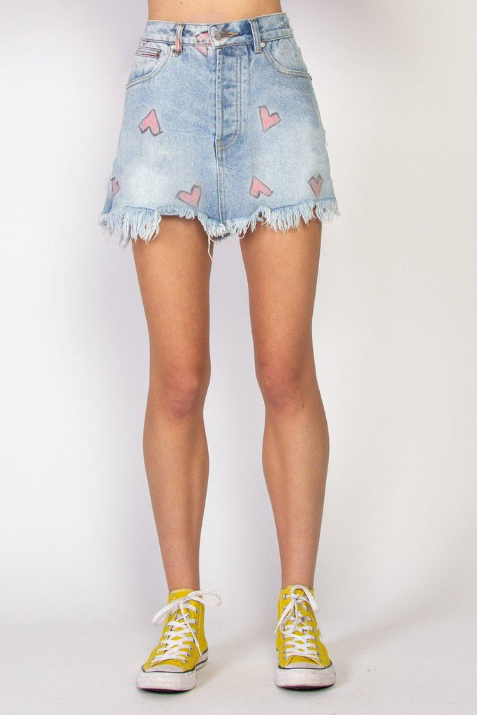 FEDERATION Welcome Skirt Heart Washed Blue front