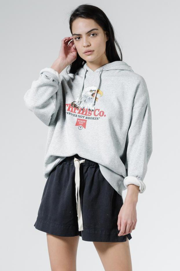 THRILLS Talla Slouch Hoodie Vintage Marle Tucked in