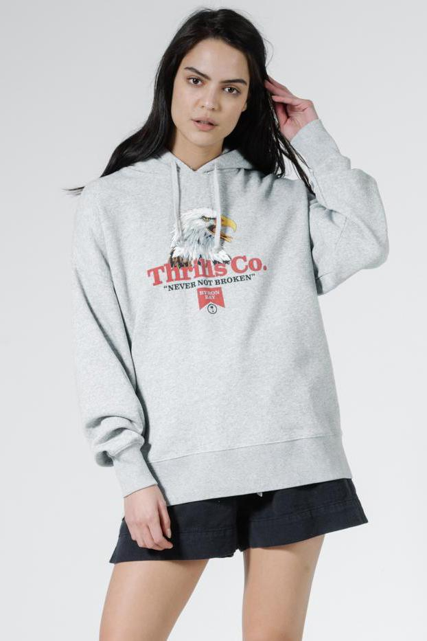 THRILLS Talla Slouch Hoodie Vintage Marle Front