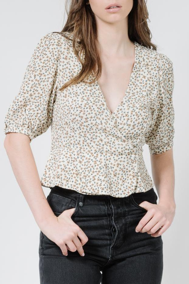 THRILLS Acacia Blouse Thrift White Front