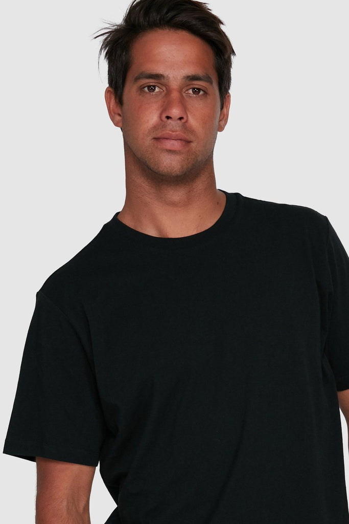 RVCA Washed Tee Black Close Up