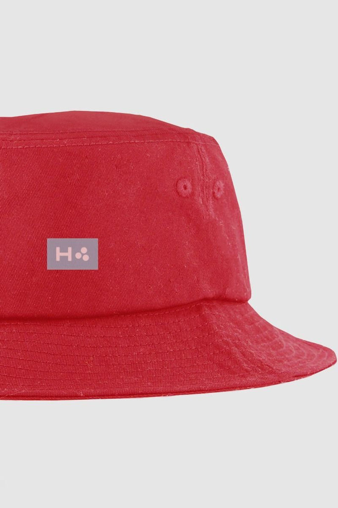 HUFFER 3 Ball Bucket Hat Red Detail