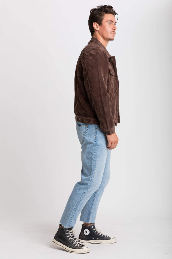 ROLLAS Cord Jacket Brown Side