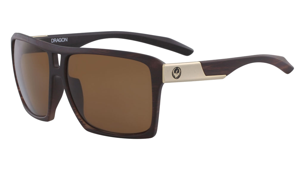 DRAGON The Verse Matte Woodgrain Bronze Polarised