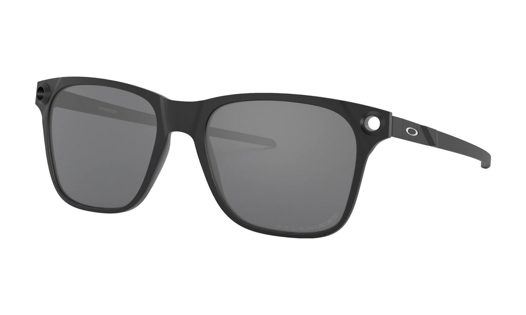 Oakley Apparition Satin Black Prizm Grey Front Angle