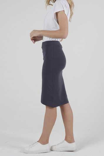 BETTY BASICS Siri Skirt Blue Stone Side