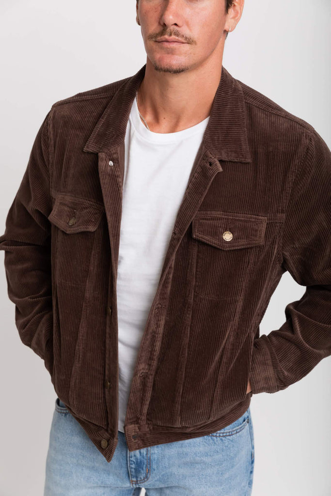 ROLLAS Cord Jacket Brown Front