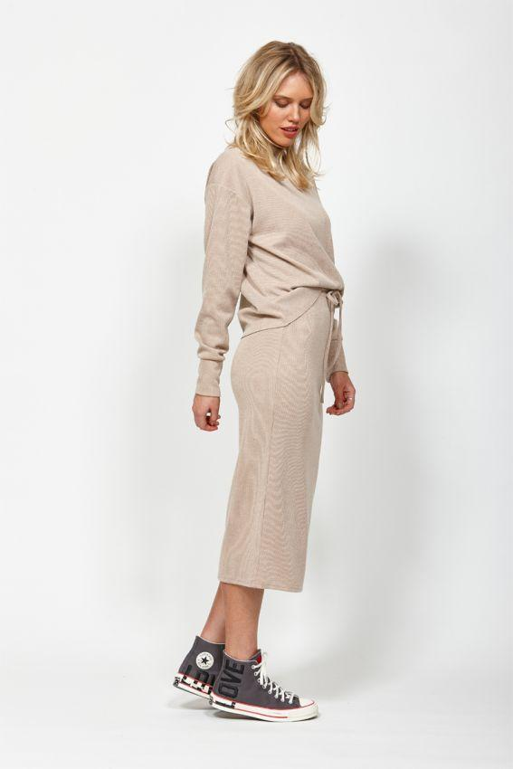 KETZ KE Nudge Skirt Camel Side