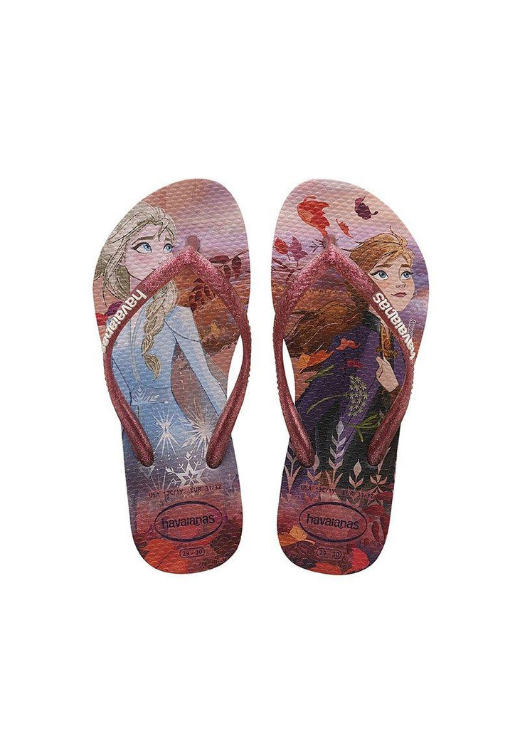 HAVAIANAS Kids Slim Frozen Crystal Rose Pair