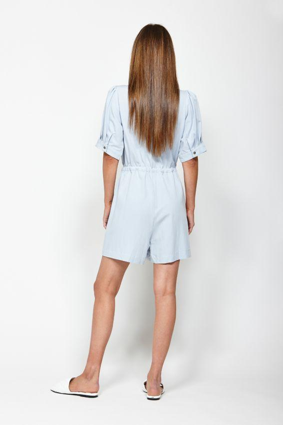 LEO BE Tidal Playsuit Light Blue Back
