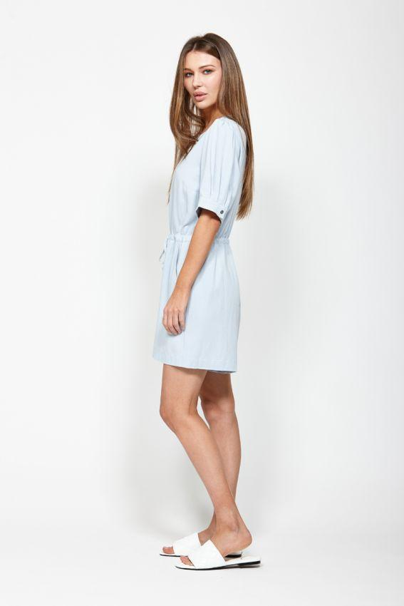 LEO BE Tidal Playsuit Light Blue Side