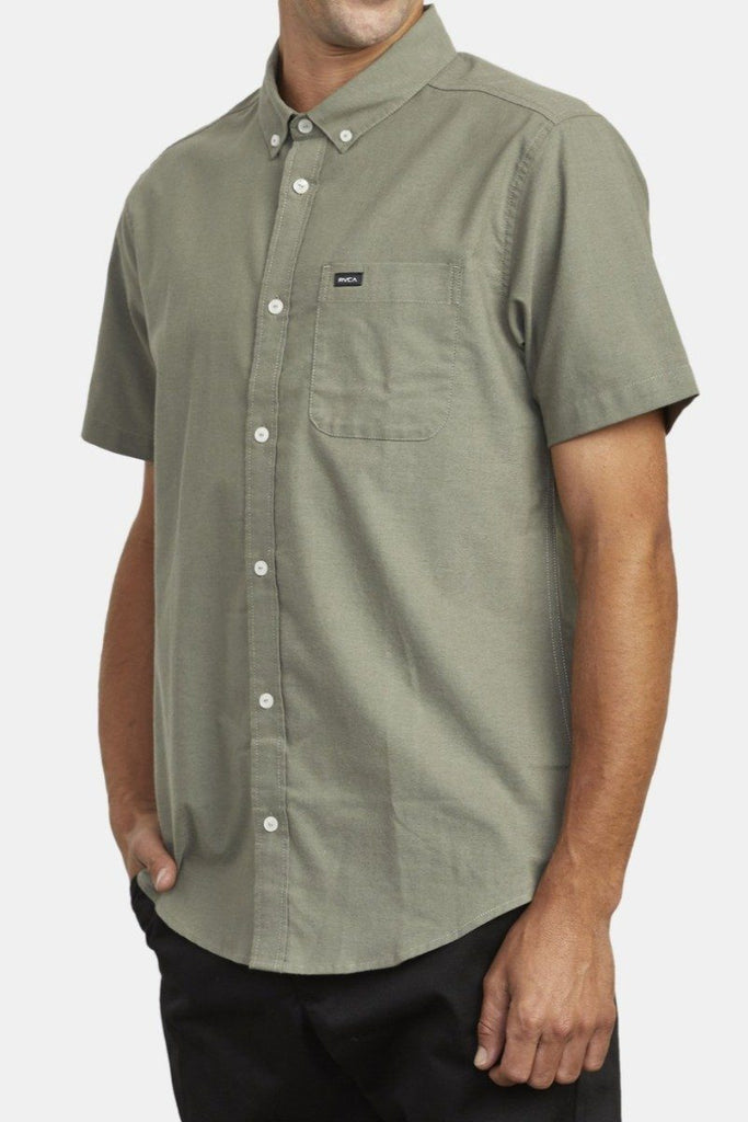 RVCA Thatll Do Street Ss Shirt Aloe Side