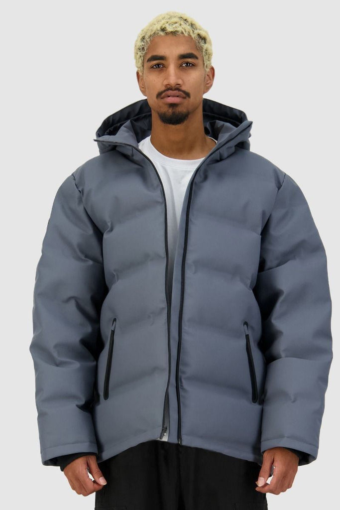HUFFER Mens Superdown Jacket Boulder Front