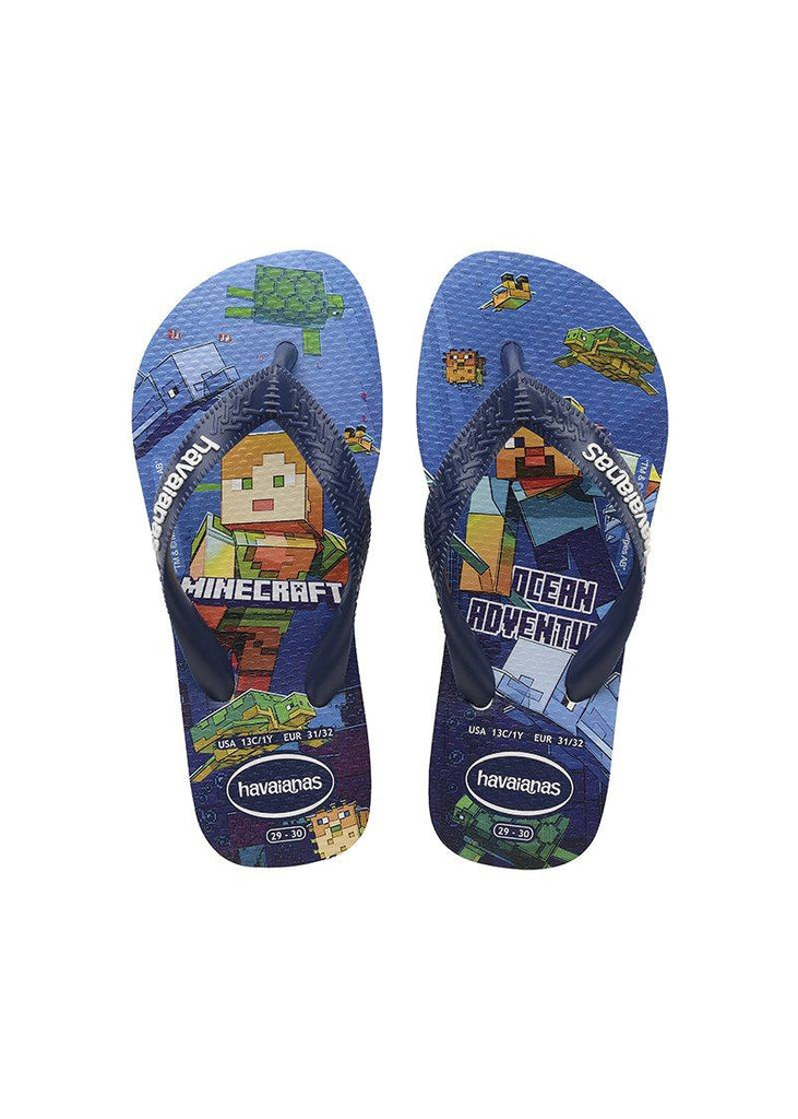 HAVAIANAS Kids Top Minecraft Navy Pair