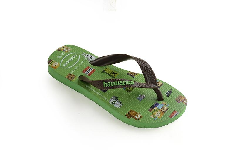 HAVAIANAS Kids Top Minecraft Green Single