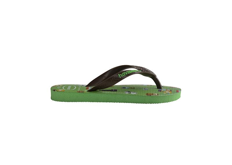 HAVAIANAS Kids Top Minecraft Green Single Flat