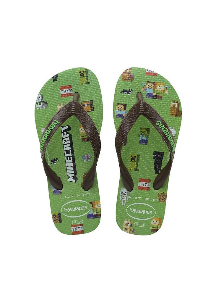HAVAIANAS Kids Top Minecraft Green Pair