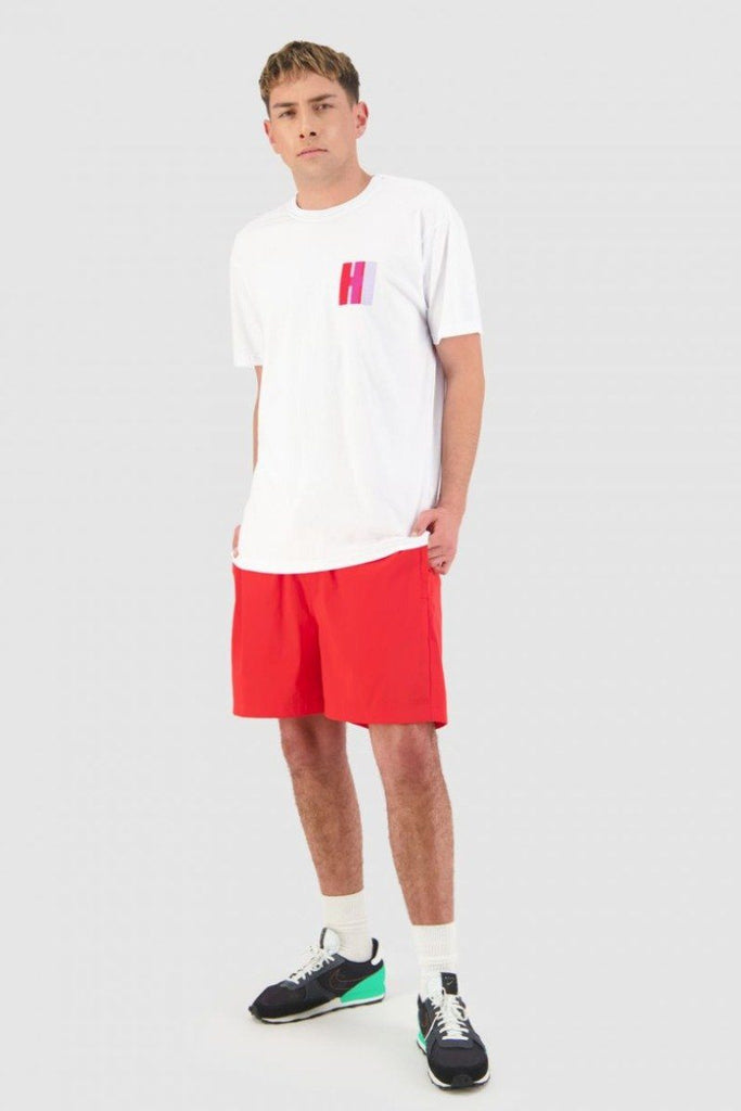 HUFFER Optical Sup Tee White Front Full