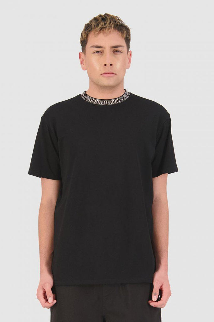 HUFFER Check It Sup Tee Black Front