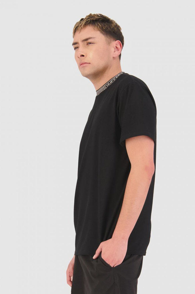 HUFFER Check It Sup Tee Black Side