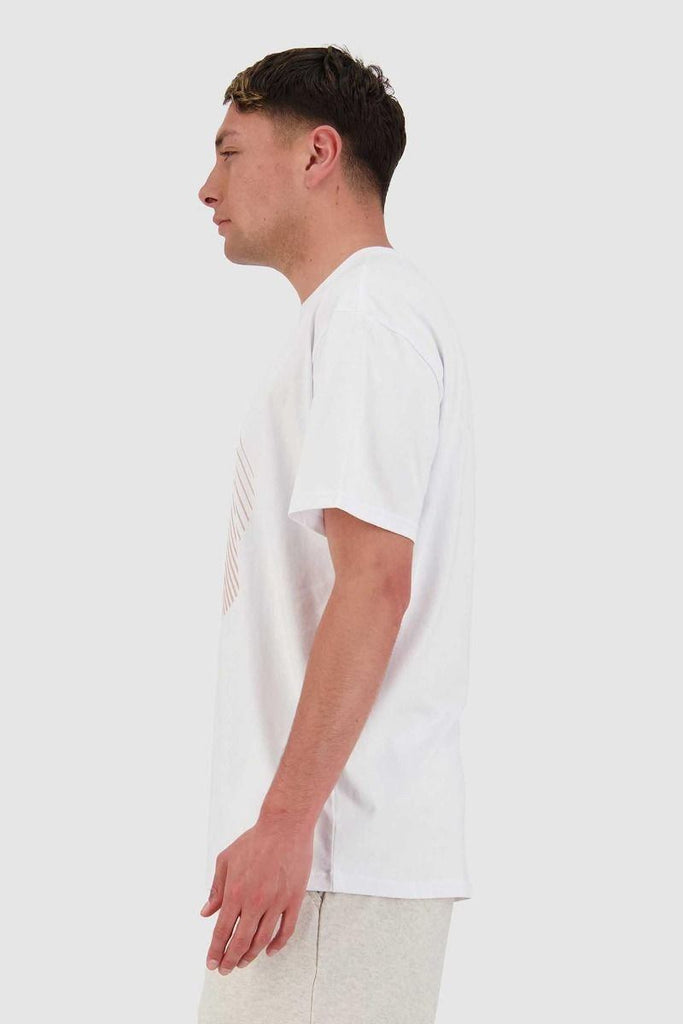 HUFFER Subtle Sup Tee Talc Side