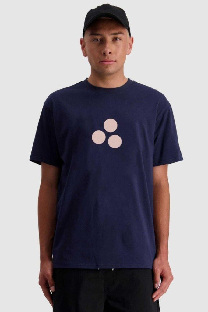 HUFFER 3 Ball Sup Tee Navy Front