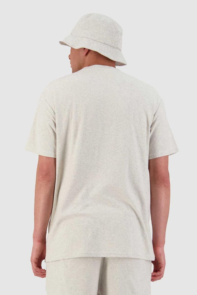 HUFFER Looped Sup Tee Oat Marle Back