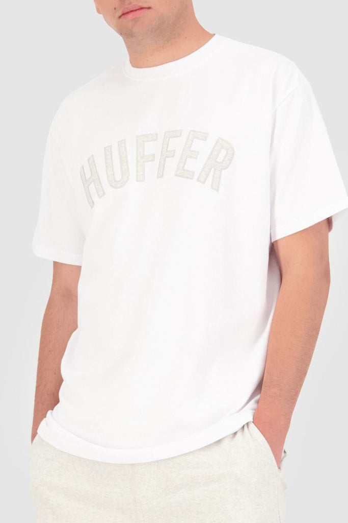 HUFFER Looped Applique Sup Tee White Front