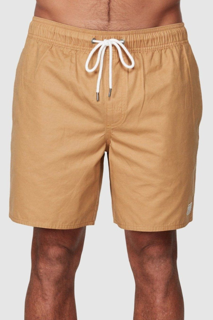 RVCA Opposites Elastic Short Honey Front