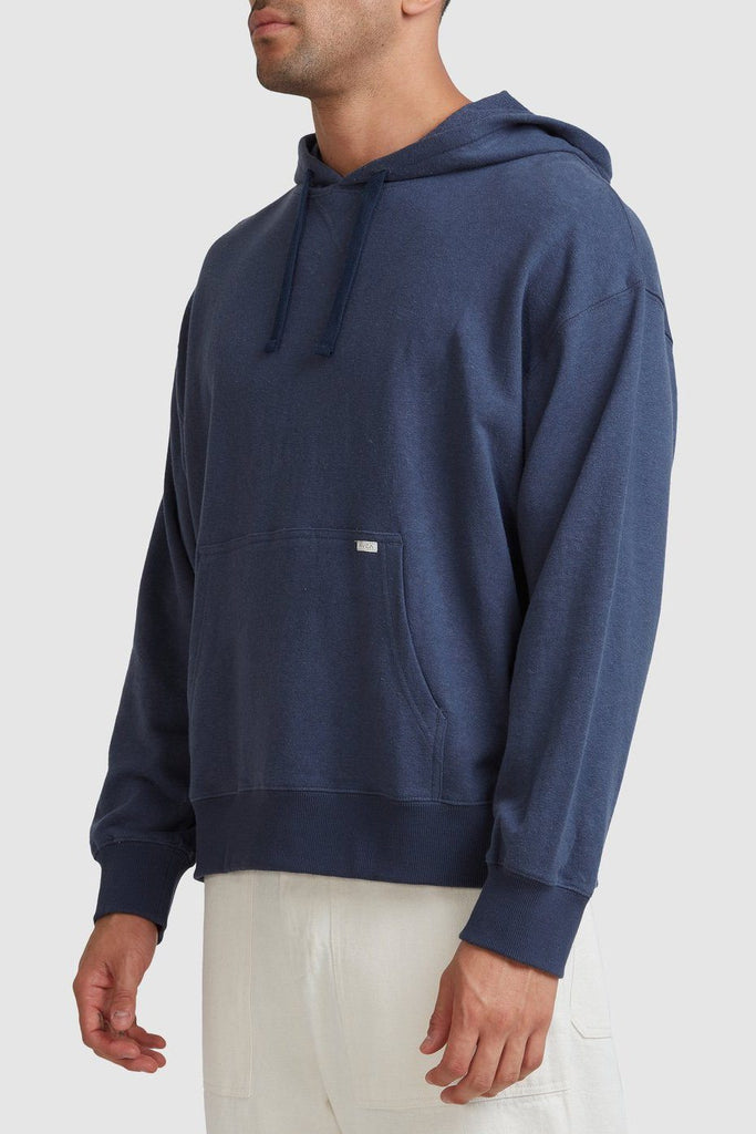 RVCA Noble Hemp Hoodie Indigo Side