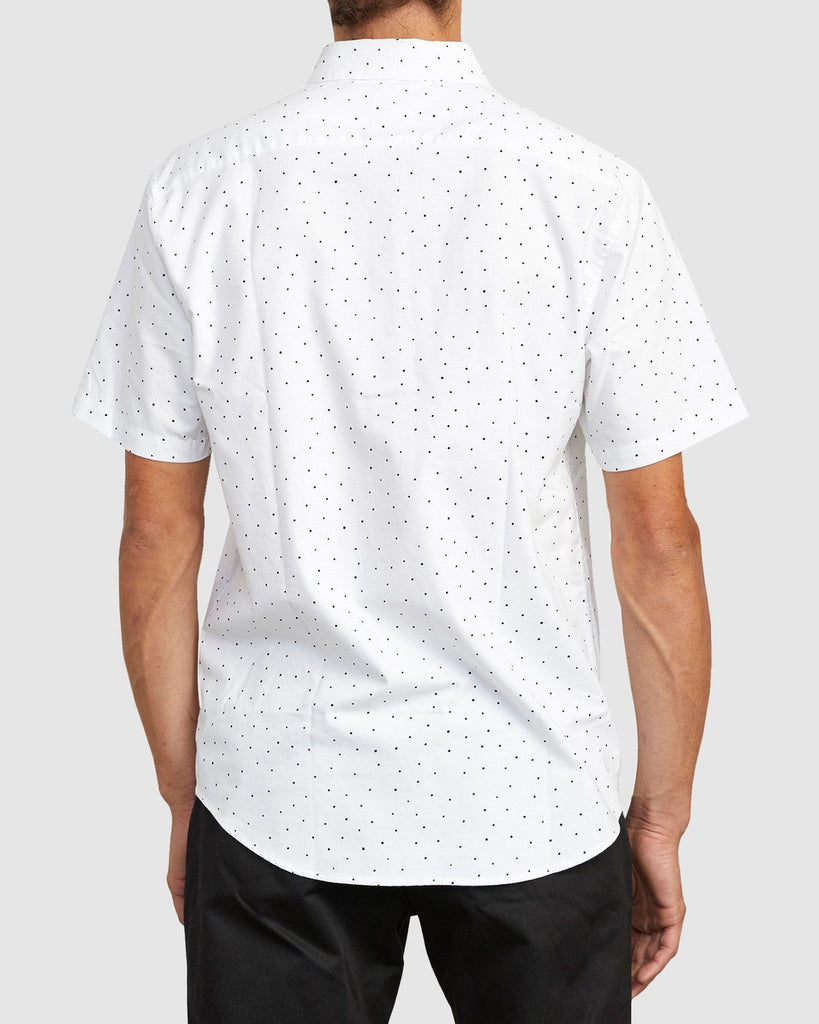 RVCA Thatll Do Stretch Short Sleeve Shirt White Back