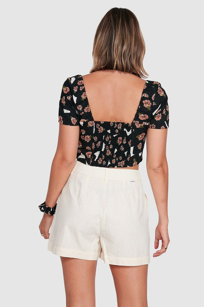 RVCA Annola Top Black Back