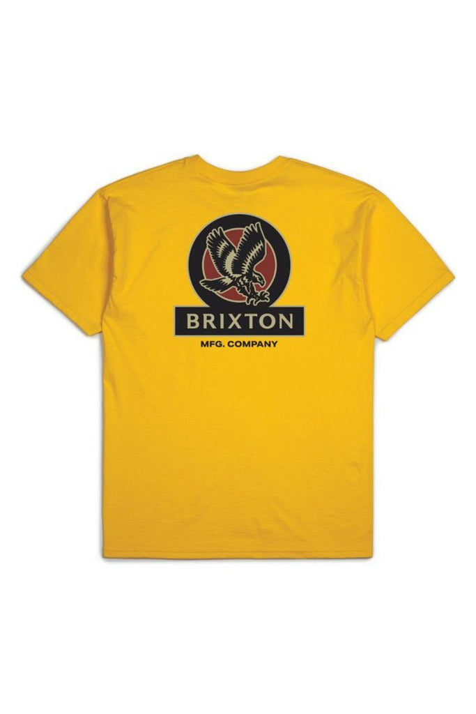 BRIXTON Reach Tee Athletic Gold Back