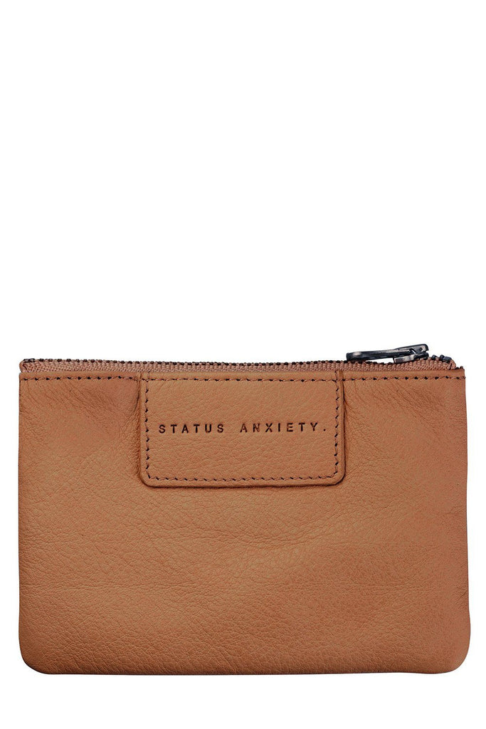 STATUS ANXIETY Anarchy Purse Tan Front
