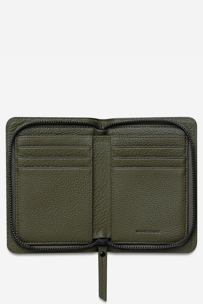 STATUS ANXIETY Popular Problems Wallet Khaki Open