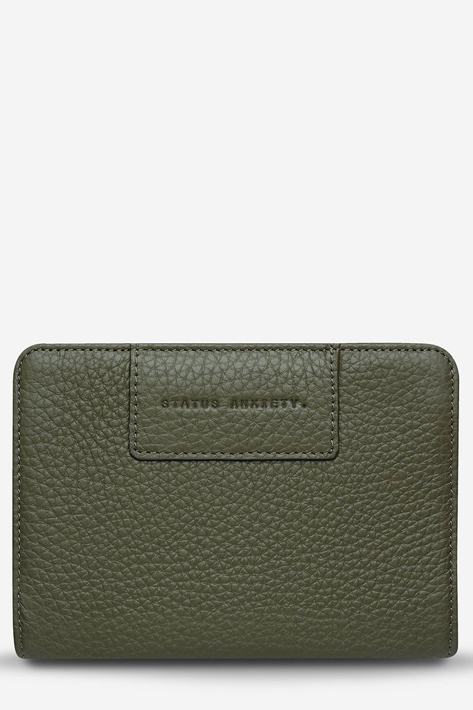 STATUS ANXIETY Popular Problems Wallet Khaki Front