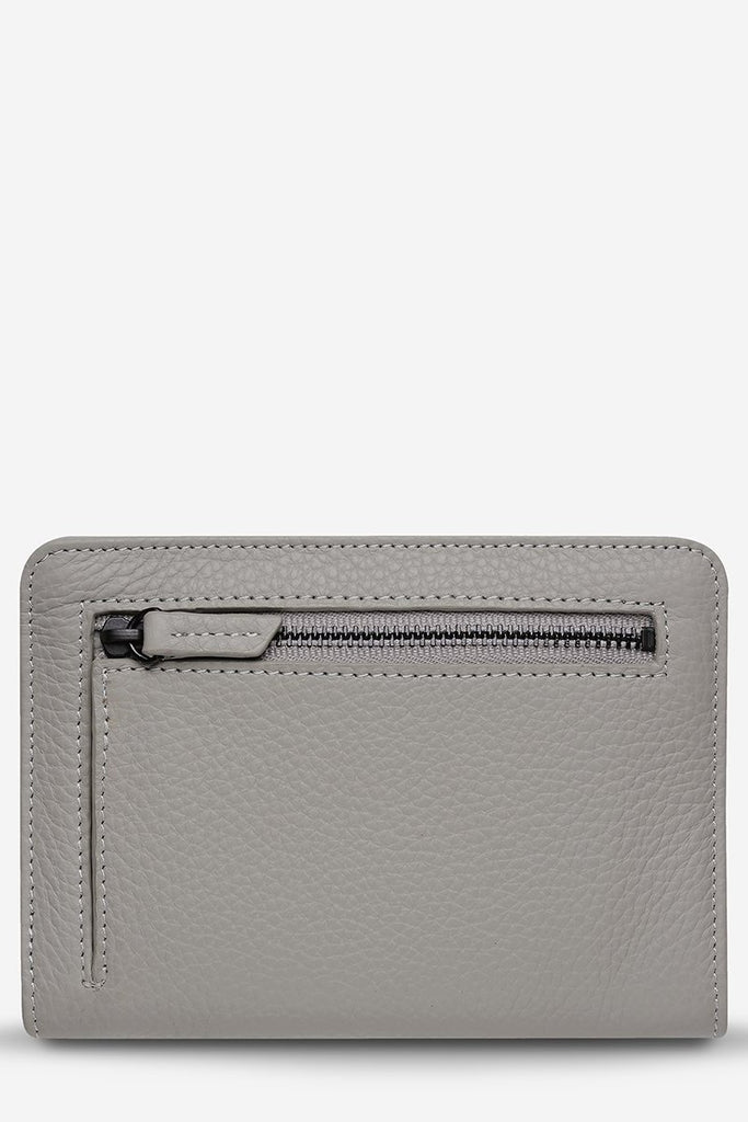 STATUS ANXIETY Popular Problems Wallet Light Grey Back