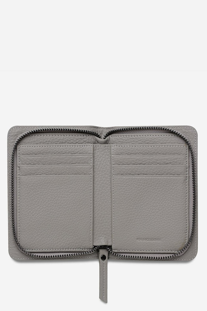 STATUS ANXIETY Popular Problems Wallet Light Grey Open