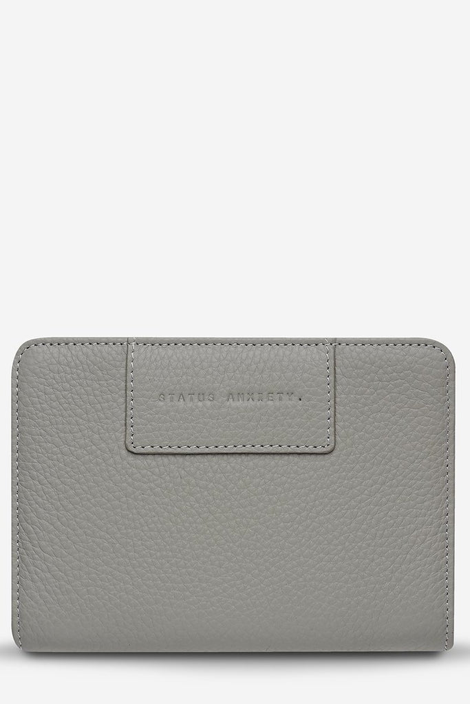 STATUS ANXIETY Popular Problems Wallet Light Grey Front