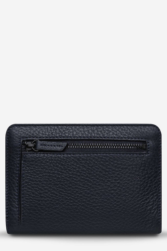 STATUS ANXIETY Popular Problems Wallet Navy Blue Back