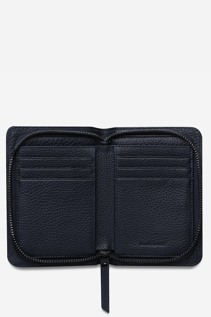 STATUS ANXIETY Popular Problems Wallet Navy Blue Open