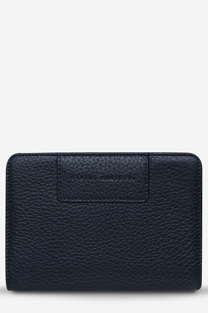 STATUS ANXIETY Popular Problems Wallet Navy Blue Front